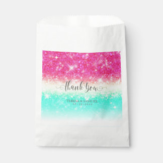Glitter Gradient Pink Teal ID433 Favour Bag