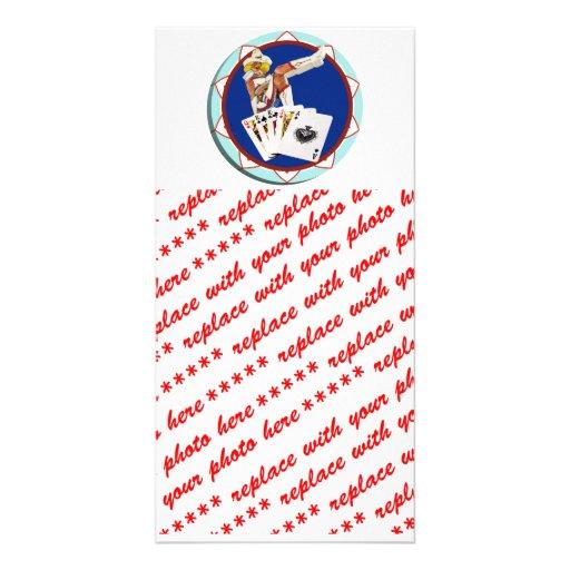 Glitter Gultch Sally Poker Chip Photo Card