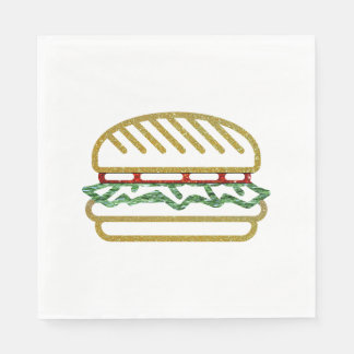 Glitter Hamburger Napkin Disposable Serviette