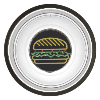 Glitter Hamburger Pet Bowl