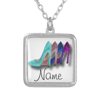 Glitter High Heel Shoes Fashion Girl Necklace