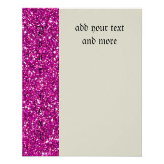 "Glitter,hot pink,girly,endy,fun,modern,cute,teen 4.5"" x 5.6"" flyer"
