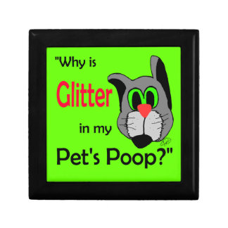 Glitter in Pets Poop Small Square Gift Box