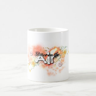 Glitter in the air basic white mug