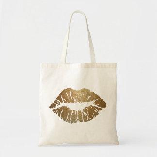 Glitter Kiss Lipstick Love Tote Bag