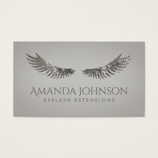 Glitter Lashes Eyelash Extensions Silver Card