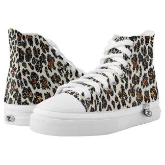Glitter Leopard High Tops