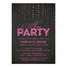 Glitter Look Hens Party Invitation