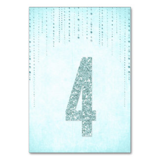 Glitter Look Wedding Table Numbers - 4