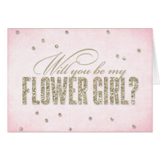 Glitter Look Will You Be My Flower Girl? Card