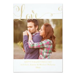 Glitter Love Valentine's Day Cards 13 Cm X 18 Cm Invitation Card