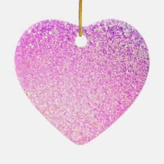 Glitter Luxury Shiny Ceramic Heart Decoration