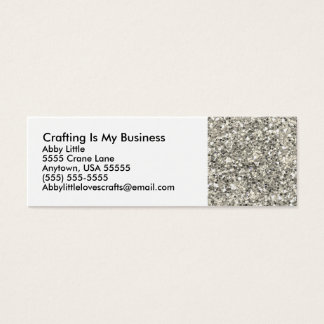 Glitter Macro Crafting Mini Business Card