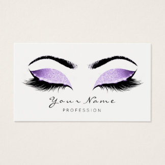 Glitter Makeup Beauty Lashes Studio Lavender Business Card