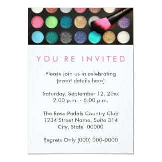 Glitter Makeup Invitations