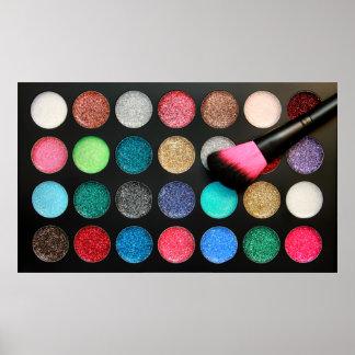 Glitter Makeup Palette Poster