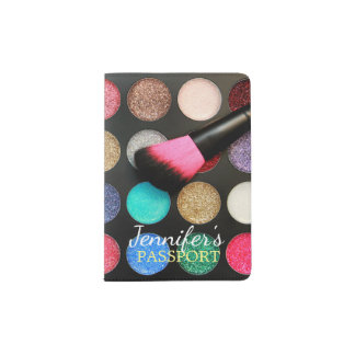 Glitter Makeup Passport Holder