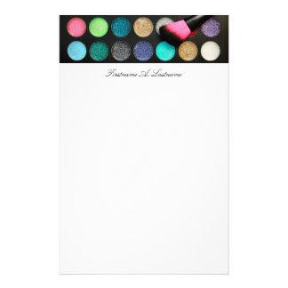 Glitter Makeup Stationery