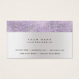 Glitter Minimal Amethyst Lavanda Gray Silver Urban Business Card