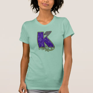 Glitter Monogram Purple K T-Shirt