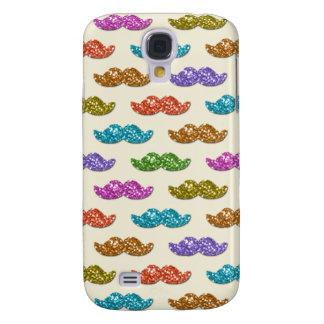 Glitter Moustache Pattern Galaxy S4 Case