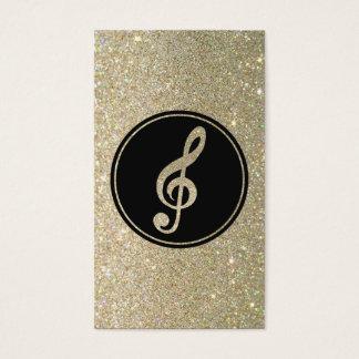 Glitter Music Note Business Card