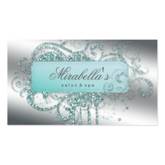 Glitter Nail Salon Appointment Elegant Bling Pack Of Standard Business Cards