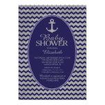 Glitter Nautical Anchor Baby Shower Invitatation 13 Cm X 18 Cm Invitation Card