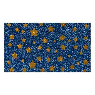 Glitter night sky business cards