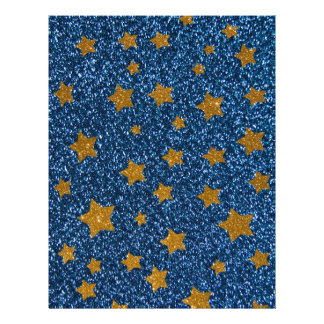 Glitter night sky full color flyer