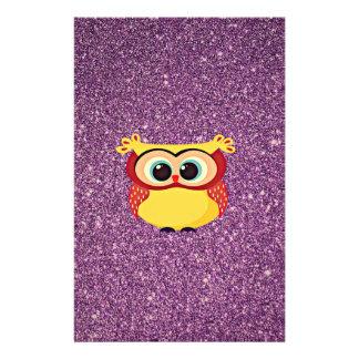 Glitter Owl 14 Cm X 21.5 Cm Flyer
