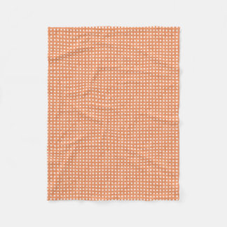 Glitter Peach Polka Dots Fleece Blanket