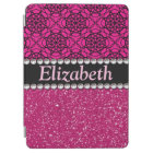 Glitter Pink and Black Pattern Rhinestones iPad Air Cover