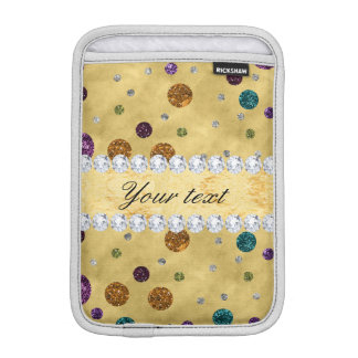 Glitter Polka Dots and Diamonds iPad Mini Sleeve