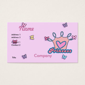 Glitter Princess Design Business Card