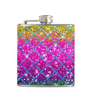 Glitter Purple Snakeskin Flasks