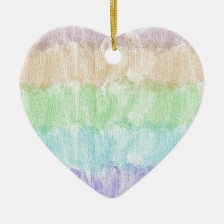 Glitter Rainbow Ceramic Heart Decoration