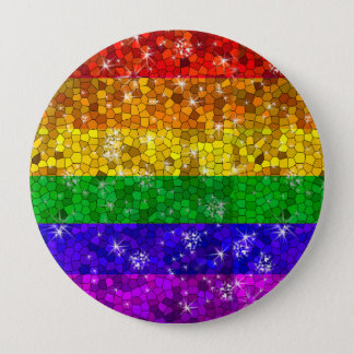 Glitter Rainbow Flag Marriage Equality Gay Pride 10 Cm Round Badge