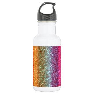 Glitter Rainbow gradient 532 Ml Water Bottle