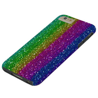 Glitter Rainbow iPhone 6 Plus Tough Tough iPhone 6 Plus Case