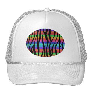 Glitter Rainbow zebra stripes Trucker Hat