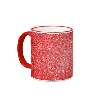 Glitter Red Coffee Mugs