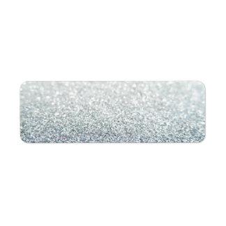 Glitter Return Address Label