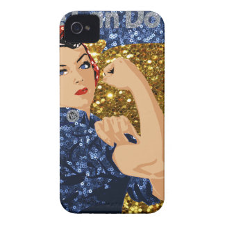 glitter rosie the riveter iPhone 4 cover