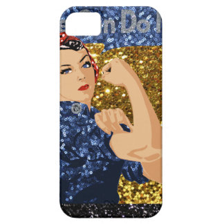 glitter rosie the riveter iPhone 5 covers