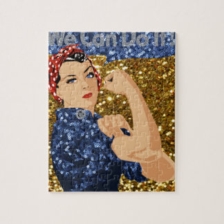 glitter rosie the riveter jigsaw puzzle