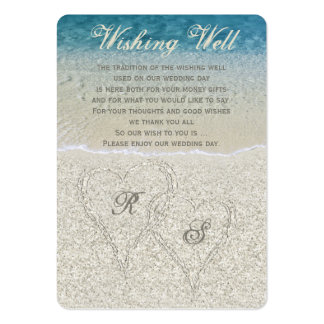 Glitter Sandy Beach Wedding Wishing Well Pack Of Chubby Business Cards