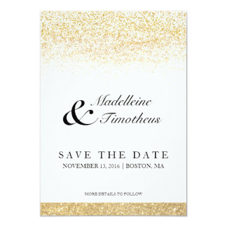 Glitter Save The Date Announcements