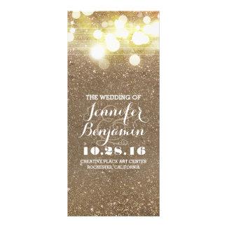 glitter shimmer chic vintage string lights program full color rack card
