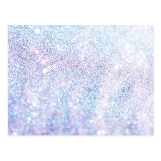 Glitter Shiny Luxury Colorful Postcard